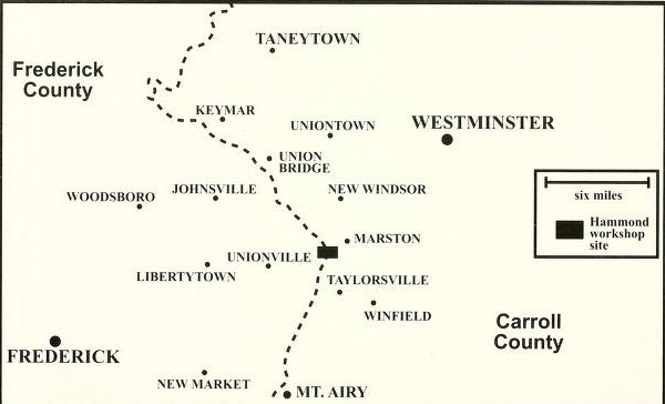 Map of Frederick/Carroll county border