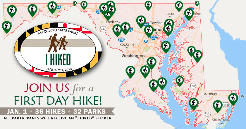 MD State Park First Day Hikes Map